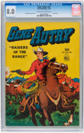 Golden Age (1938-1955):Western, Four Color #57 Gene Autry (Dell, 1944) CGC VF 8.0 Cream to off-white pages....