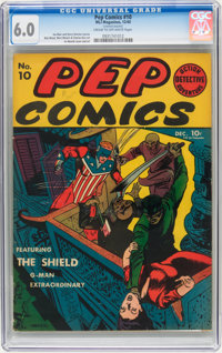 Pep Comics #10 (MLJ , 1940) CGC FN 6.0 Cream to off-white pages