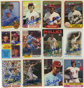Autographs:Sports Cards, Steve Carlton Signed Baseball Cards Lot of 12. One dozen cards offered here were all issued in the 1980s and focus on the H...