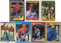 Autographs:Sports Cards, Pete Rose Signed Baseball Cards Lot of 7. Baseball's all-time Hit King offers a total of seven cards from the 1980s, each s...