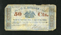 Obsoletes By State:Louisiana, New Orleans, LA- C.C. Morgan 50¢ Apr. 6, 1862. ...
