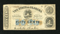 Obsoletes By State:Alabama, Montgomery, AL- State of Alabama 50¢ Jan. 1, 1863. ...