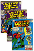 Silver Age (1956-1969):Superhero, Justice League of America #22, 46, and 49 Group (DC, 1963-66).... (Total: 3 Comic Books)