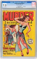 Golden Age (1938-1955):Crime, Murder Incorporated #4 (Fox Features Syndicate, 1948) CGC VF- 7.5 Tan to off-white pages....