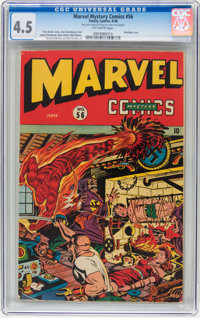 Marvel Mystery Comics #56 (Timely, 1944) CGC VG+ 4.5 Off-white pages