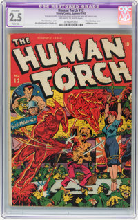 The Human Torch #12 (Timely, 1943) CGC Apparent GD+ 2.5 Slight (A) Off-white to white pages