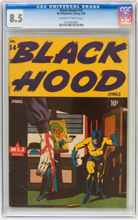 Black Hood #14 (MLJ , 1945) CGC VF+ 8.5 Off-white to white pages