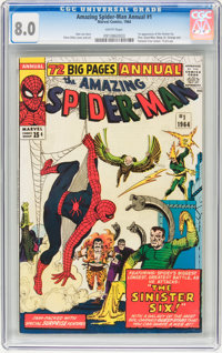 The Amazing Spider-Man Annual #1 (Marvel, 1964) CGC VF 8.0 White pages