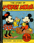 Platinum Age (1897-1937):Miscellaneous, Big Big Book #4062A The Story of Mickey Mouse (Whitman, 1935) Condition: VG....