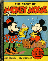 Big Big Book #4062A The Story of Mickey Mouse (Whitman, 1935) Condition: VG