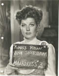 "Movie Posters:Drama, Ann Sheridan in ""Kings Row"" (Warner Brothers, 1942). Hair and Make-up Test Stills (6) (8"" X 10"").. ... (Total: 6 Items)"