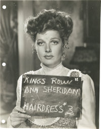 "Ann Sheridan in ""Kings Row"" (Warner Brothers, 1942). Hair and Make-up Test Stills (6) (8"" X 10"")..."
