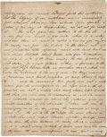 "Autographs:Military Figures, [John Coffee ""Jack"" Hays] John Caperton Autograph Manuscript:Travel Journal of the 1848 Texas Ranger Expedition, [24pp.], ..."