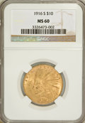 Indian Eagles: , 1916-S $10 MS60 NGC. NGC Census: (30/327). PCGS Population(25/375). Mintage: 138,500. Numismedia Wsl. Price for problem fr...