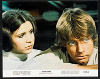 "Star Wars (20th Century Fox, 1977). Lobby Card Set of 8 (11"" X 14""), Color Stills (3) (8"" X 10"") and..."