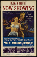 "Movie Posters:Action, The Conqueror (RKO, 1956). Window Card (14"" X 22""). Action.. ..."