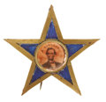 Political:Ferrotypes / Photo Badges (pre-1896), [Abraham Lincoln] Scarce Star Shaped Ferro Frame....