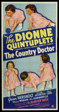 "The Country Doctor (20th Century Fox, 1936). Three Sheet (41"" X 81""). Drama"
