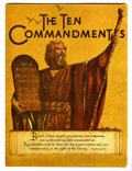 Memorabilia:Movie-Related, The Ten Commandments Movie Program Book (No Publisher,0)....