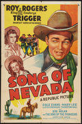 "Movie Posters:Western, Song of Nevada (Republic, 1944). One Sheet (27"" X 41""). Western....."