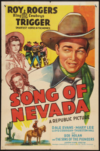 """Song of Nevada (Republic, 1944). One Sheet (27"""" X 41""""). Western"""