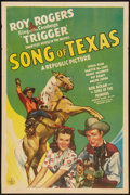 "Movie Posters:Western, Song of Texas (Republic, 1943). One Sheet (27"" X 41""). Western....."
