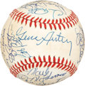 Autographs:Baseballs, 1986 California Angels Team Signed Baseball with Gene Autry. ...