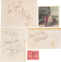 Music Memorabilia:Autographs and Signed Items, The Jimi Hendrix Experience Autographs Set.... (Total: 5 Items)