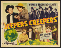 """Jeepers Creepers (Republic, 1939). Half Sheet (22"""" X 28"""") Style B. Western"""