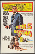 "Movie Posters:Adventure, Pier 5, Havana (United Artists, 1959). One Sheet (27"" X 41""), TitleCard and Lobby Cards (5) (11"" X 14""). Adventure.. ... (Total: 7Items)"