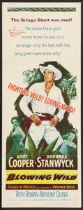 "Movie Posters:Action, Blowing Wild (Warner Brothers, 1953). Insert (14"" X 36""). Action....."