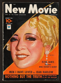 "The New Movie Magazine (January, 1934). Magazine (106 Pages, 8.5"" X 11.75""). Miscellaneous"