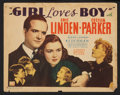 """Movie Posters:Romance, Girl Loves Boy (Grand National, 1937). Lobby Card Set of 8 (11"""" X 14""""). Romance.. ... (Total: 8 Items)"""