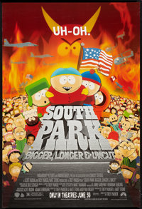 "South Park: Bigger Longer & Uncut (Paramount, 1999). One Sheet (27"" X 40"") DS Advance. Animated"