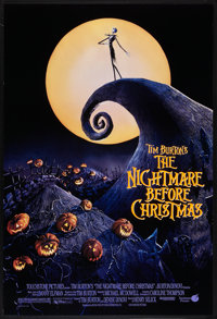 """The Nightmare Before Christmas (Touchstone, 1993). One Sheet (27"""" X 40"""") DS. Fantasy"""