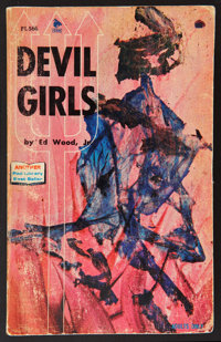 "Ed Wood Jr.'s Devil Girls (Pad Library, 1967) Softcover Book (4.25"" X 6.75"", 192 Pages). Miscellaneous"