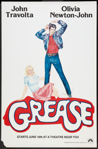"""Grease (Paramount, 1978). One Sheet (27"""" X 41"""") Advance. Musical"""