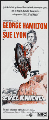 "Evel Knievel (MGM, 1971). Australian Daybill (12.75"" X 29.5""). Action"