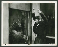 "The Ape Man (Monogram, 1943). Stills (2) and British Front of House Still (8"" X 10""). Horror. ... (Total: 3 It..."