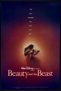 "Beauty and the Beast (Buena Vista, 1991). One Sheet (27"" X 40"") DS Advance. Animated"