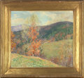Fine Art - Painting, American:Modern  (1900 1949)  , WILLARD LEROY METCALF (American, 1858-1925). October Afternoon -Vermont, 1922-1923. Oil on canvas. 26-1/2 x 29-1/4 inch...