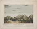 """Military & Patriotic:Pre-Civil War, D. P. Whiting Lithograph: """"Heights of Monterey, from the Saltillo road looking towards the Saltillo ro..."""