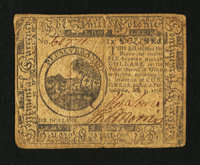 Continental Currency May 9, 1776 $6 Fine