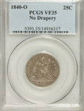 Seated Quarters: , 1840-O 25C No Drapery VF35 PCGS. PCGS Population (8/59). NGCCensus: (1/88). Mintage: 382,200. Numismedia Wsl. Price for pr...