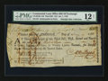 Colonial Notes:Continental Congress Issues, Continental Loan Office Bill of Exchange. Third Bill. $18.US-95/RI-11B. PMG Fine 12 Net....
