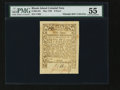 Colonial Notes:Rhode Island, Rhode Island May 1786 9d PMG About Uncirculated 55....