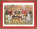 Football Collectibles:Others, 1986 Super Bowl MVPs Multi-Signed Lithograph from the Estate of David Boss. ...
