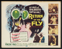 """Return of the Fly (20th Century Fox, 1959). Lobby Card Set of 8 (11"""" X 14""""). Horror. ... (Total: 8 Items)"""
