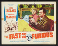 "Movie Posters:Action, The Fast and the Furious (American Releasing Corp., 1954). Lobby Card Set of 8 (11"" X 14""). Action.. ... (Total: 8 Items)"