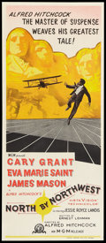 "Movie Posters:Hitchcock, North by Northwest (MGM, R-1966). Australian Daybill (12.75"" X29.75""). Hitchcock.. ..."